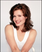 Geena Davis -- tall, beautiful, and I love her mouth! LOL!