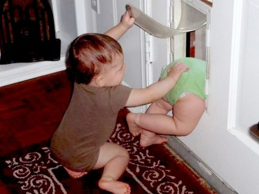 """""""Come on, bro! Get your fat ass through the door!"""""""