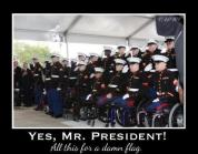 "Michelle Obama said, ""All this for a damn flag?"" YES! She DID say that!!!"