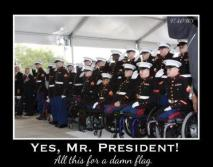 """Michelle Obama said, """"All this for a damn flag?"""" YES! She DID say that!!!"""