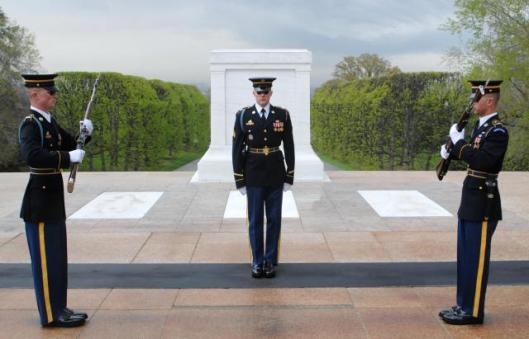 Giving the highest respect to the Unknown Soldiers