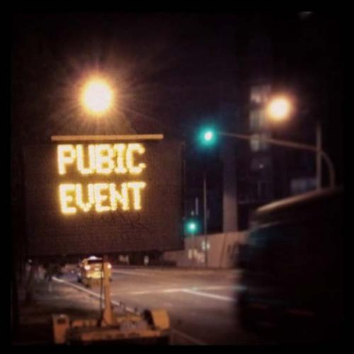 pubic event