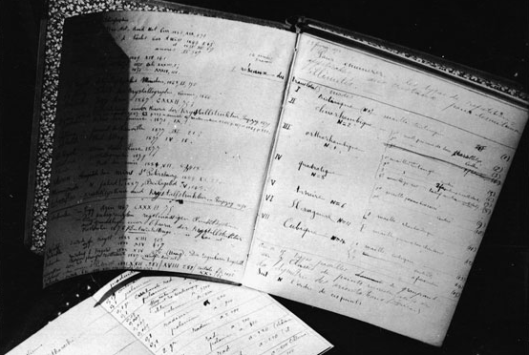 Marie Curie's notebooks